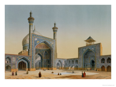 "View of the Courtyard of the Mesdjid-I-Shah, Isfahan, from ""Modern Monuments of Persia"""