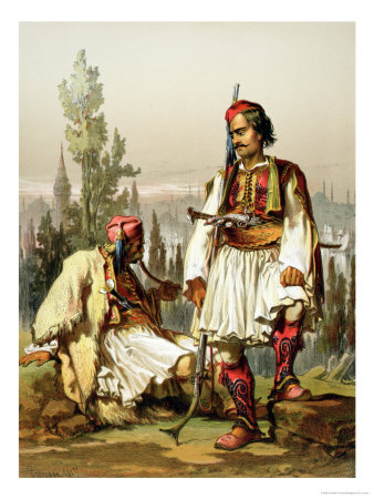 Albanians, Mercenaries in the Ottoman Army, Published by Lemercier, 1857