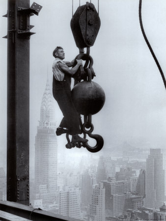Construction Worker on the Empire State Building Art Print