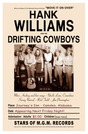 Hank Williams and the Drifters at Journey's End, Camden, Alabama, 1947 - Buy this poster print at AllPosters.com