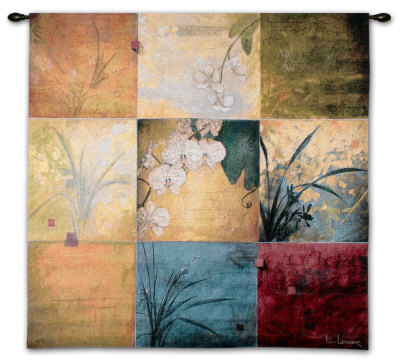 Orchid Nine Patch Wall Tapestry