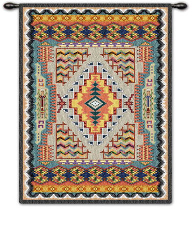 Southwest Turquoise Wall Tapestry