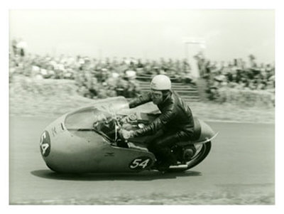 Moto Guzzi Dustbin GP Motorcycle Race