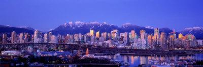 Twilight, Vancouver Skyline ...