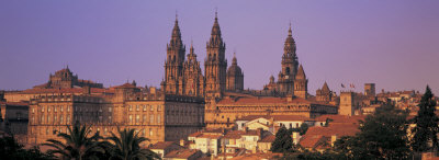Cathedral in a City, Santiago De ...