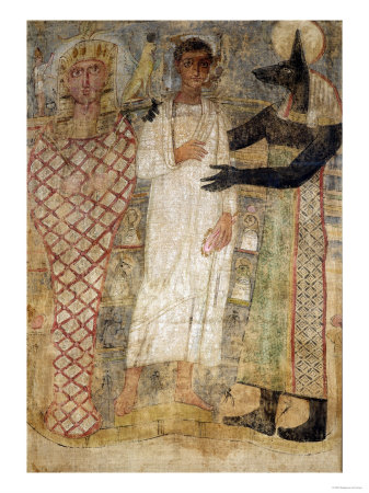 The Deceased and His Mummy Protected by Anubis