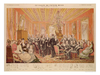"The Salon of Victor Hugo 21 Rue de Clichy, Illustration from ""La Chronique Illustree"""