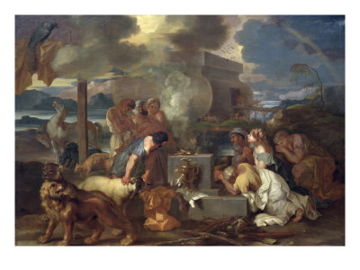 The Sacrifice of Noah, circa 1640 Giclee Print