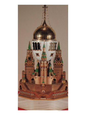 Easter Egg in the Form of the Uspensky Cathedral, Kremlin