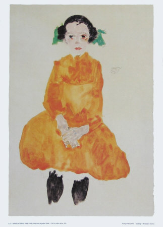 Girl in Yellow Dress, 1911 - Art Print