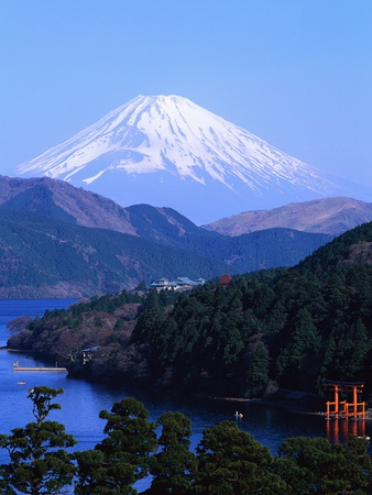 Ashino Lake and Mount Fuji