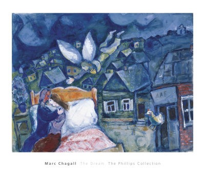 Chagall angel painting