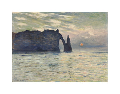 The Cliff, Etretat, Sunset, 1883