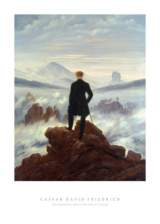 The Wanderer Above the Sea of Fog, 1818 Art Art Print