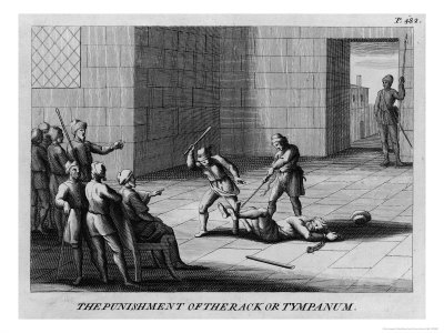 Prisoner is Punished with a Cudgel or Baton Which is Used to Beat the Soles of His Feet Giclee Print