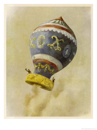 First Manned Flight Giclee Print