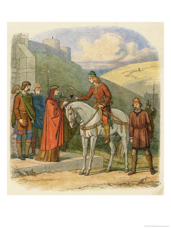 King Edward Murdered at Corfe Castle Allegedly by His Stepmother Aethelthryth