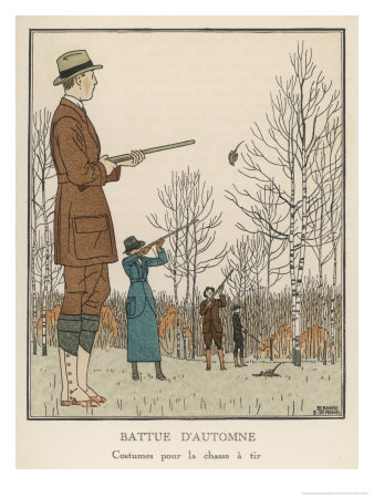 Shooting Tweeds, Riding Breeches  and Evening Clothes<BR> <br />(Dress & Vanity Fair, 1913)