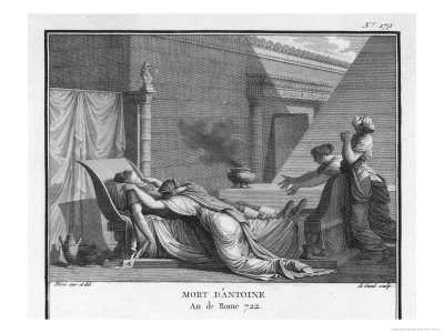 Marcus Antonius Believing Cleopatra Dead Kills Himself to Cleopatra