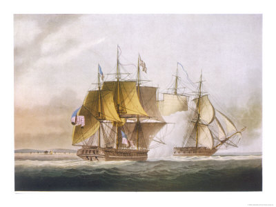 Naval Combat off Boston.
