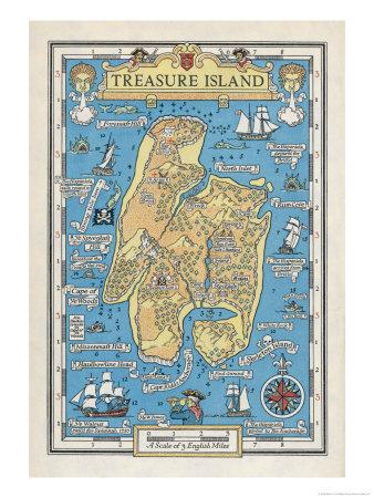 Karte von Treasure Island