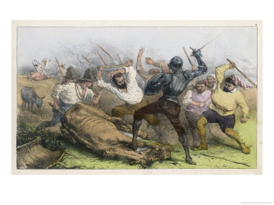 He Fights the Muleteers, and is Soundly Beaten Giclee Print