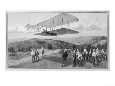 Orville and Wilbur Wright Test Unpowered Gliders Against the Wind at Kitty Hawk