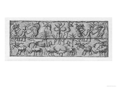 Demons and Spirits Depicted on a Babylonian Cylinder Seal
