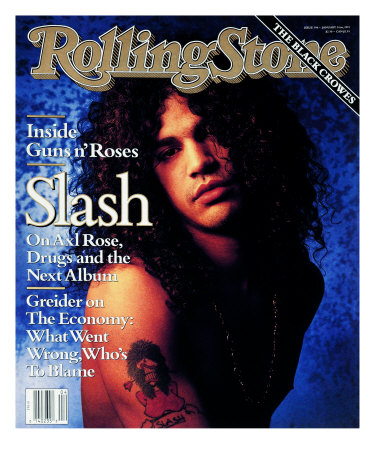 Buy Slash, Rolling Stone no. 596, January 1991 at AllPosters.com