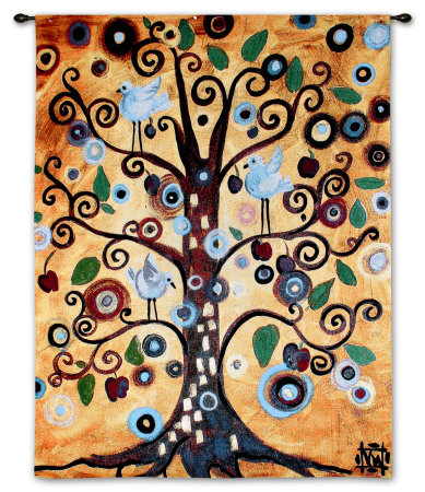 Untitled From The Tree Of Life Wall Tapestry