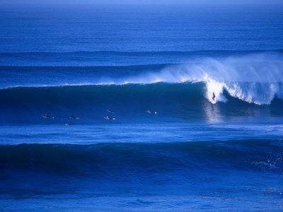 Surfers at Bells Beach, Torquay, Australia