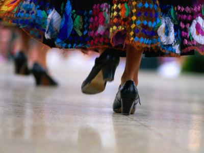 Traditional Mexican Dancing During Celebrations for Cinco De Mayo, Los Angeles, California, USA