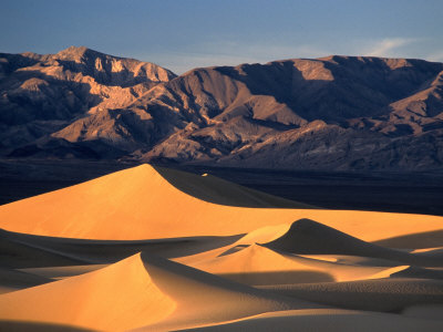 Sand Dunes and Mountain Range ...