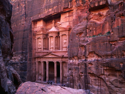 The Facade of the Treasury (Al-Khazneh), Petra, Ma