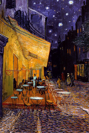 The Caf� Terrace on the Place du Forum, Arles, at Night, c.1888 Poster