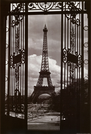 Eiffel Tower Through Gates
