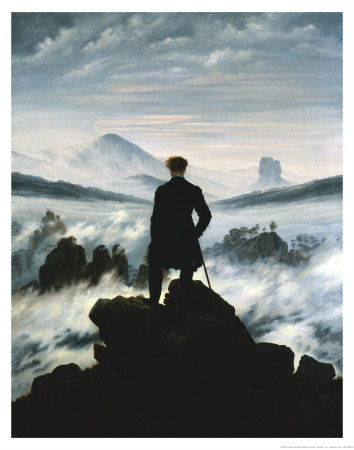 The Wanderer Above the Sea of Fog, c.1818 Wall Decor Art Print