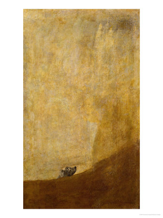 Dog, Half Submerged, on of the Black Paintings from the Quinta Del Sordo, Goya