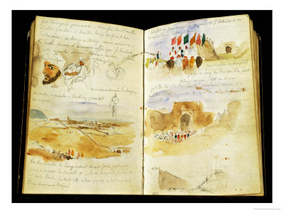 Sketches of Arabs, Landscapes of Morocco, Arab Crowds, Gate of Meknes and Hand-Written Notes
