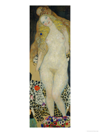 Adam and Eve Gustav Klimt