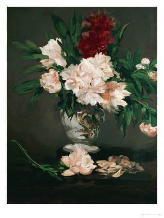 Vase with Peonies on a Pedestal, 1864