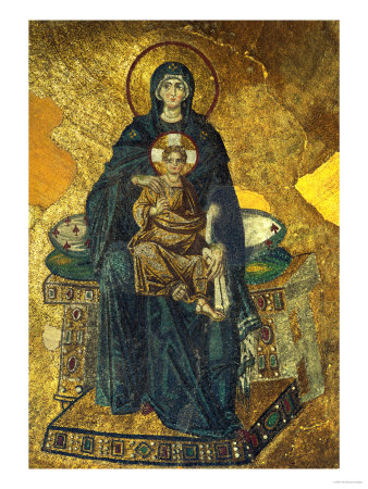 Madonna and Child, Mosaic from the Apse, Shortly after 834 CE