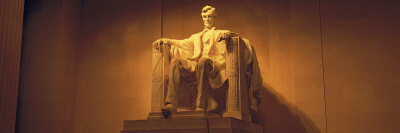 Statue of Abraham Lincoln, Lincoln Memorial, Washington D.C., USA