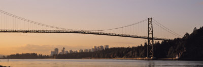 Bridge at Dawn, Lions Gate Bridge ...