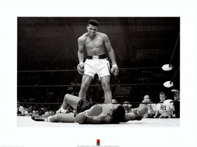 Muhammad Ali vs. Sonny Liston Art Art Print