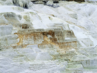 Limestone Formations at Minerva Hot Springs, Yellowstone National Park, Wyoming, USA