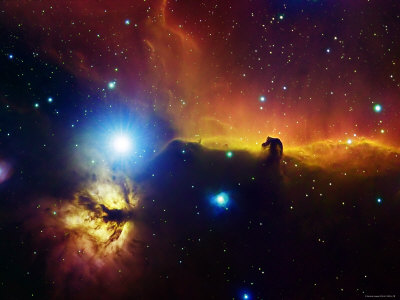 The Horsehead Nebula and the Flame Nebula