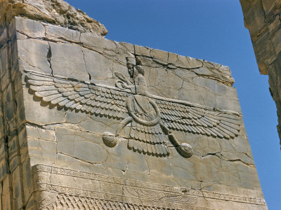 Ahura Mazda, Supreme God in Zoroastrianism, Persepolis, Unesco World Heritage Site, Iran