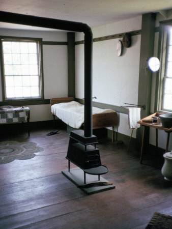 Bedroom Interior, Hancock Shaker Village, New England, United Staes of America