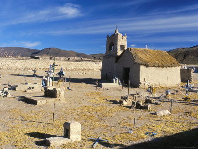 Church and Graveyard, San Juan, Salar De Uyuni, Bolivia, South America